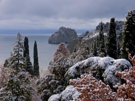 Зима в Гурзуфе