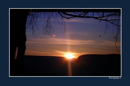 Закат солнца..