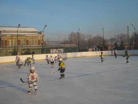 Первокласники на льду