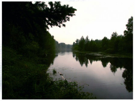 Утро на Алтырёвом озере