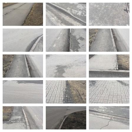 Шлак на тротуарах и дорогах